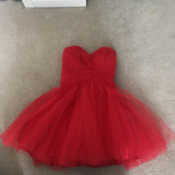 d4791bd18 Macy's Dresses | Red Short Prom Dress | Poshmark